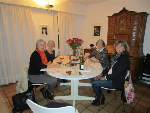 """Die Arbeitsgruppe """"Eventmanagement"""": Ingried, Jutta, Traudel, Sandra und Heike"""