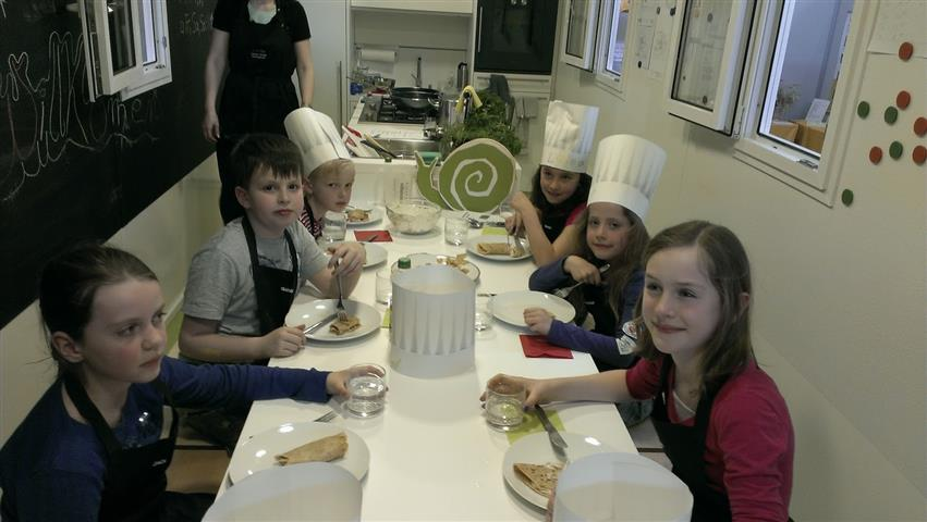 Das erste Kinderkochen auf der Slow Food-Messe
